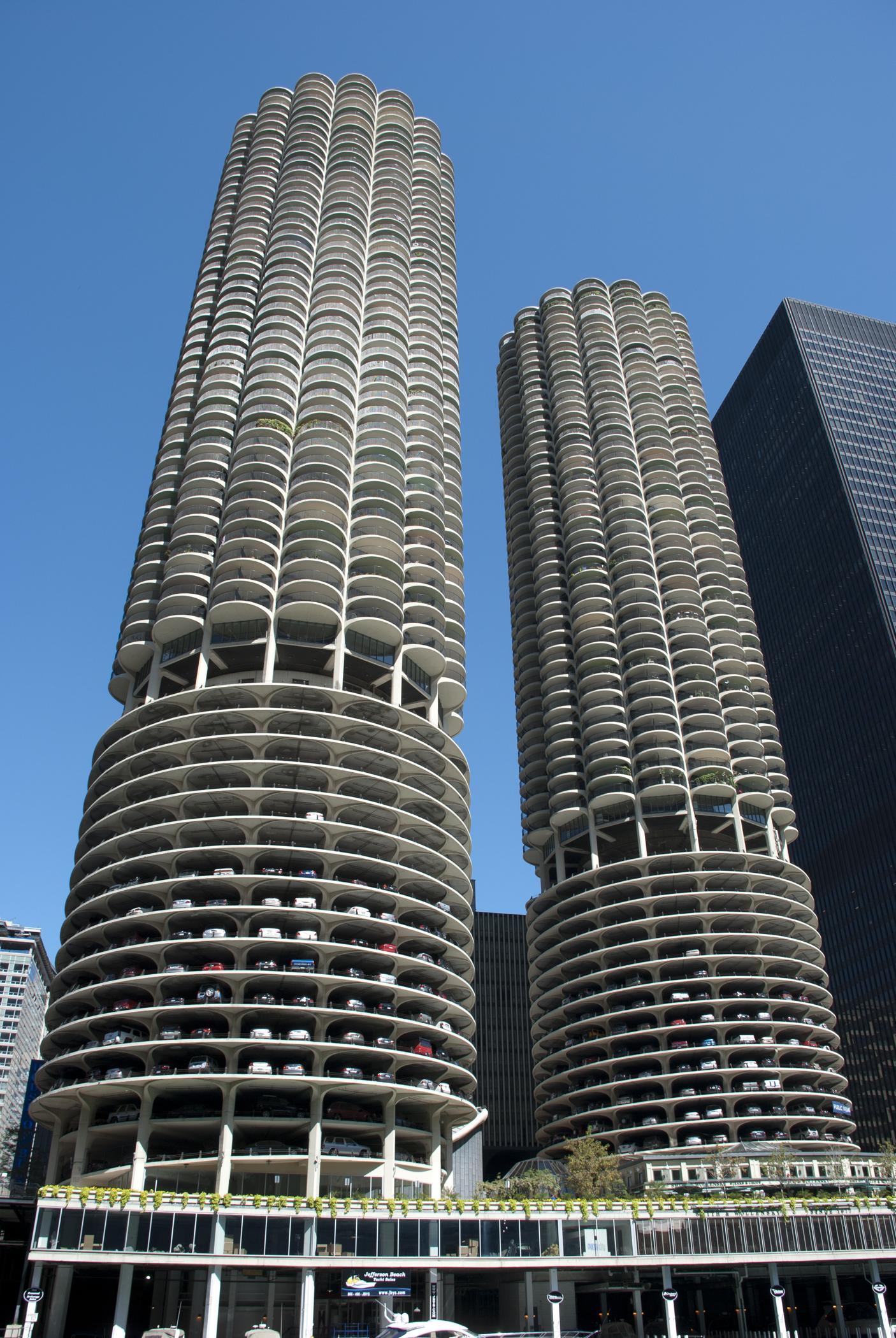 Marina City.  Image courtesy of Chicago Architecture Foundation.